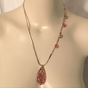 OOAK Recycled Copper Enamel Reversible Necklace